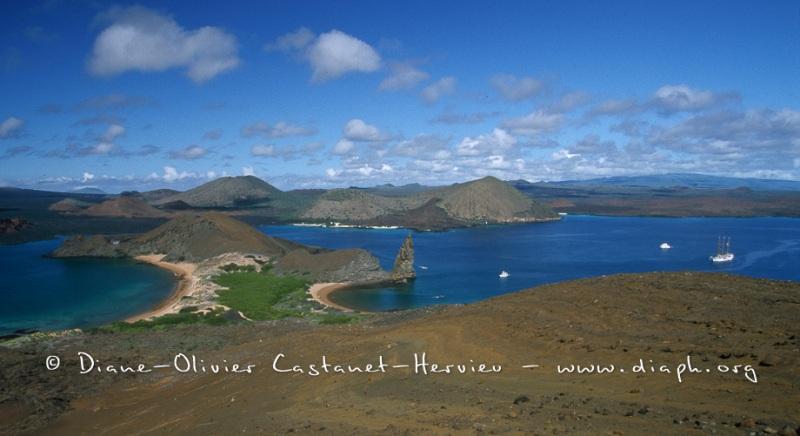 paysage volcanique - île de Bartholome, ïles Galapagos