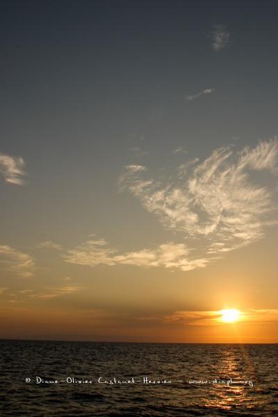 Coucher de soleil dans le pacifique