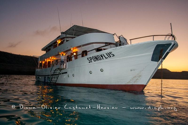 Bateau de croisière aux Galapagos